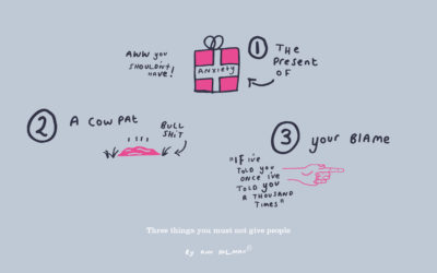 Three things you shouldn't give people
